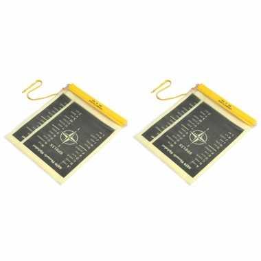 2x stuks waterproof pvc documenten zakken met koord
