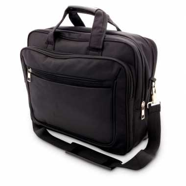 Documententas/laptoptas 15,6 inch zwart 20 liter