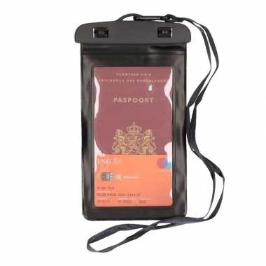 Waterdicht documententasje/ waardvolle spullen hoesje zwart