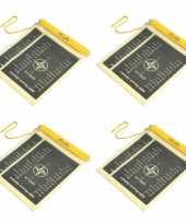 5x stuks waterproof pvc documenten zakken met koord
